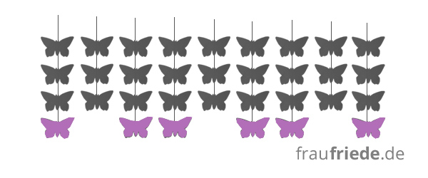 Schmetterlings-Mobile Muster