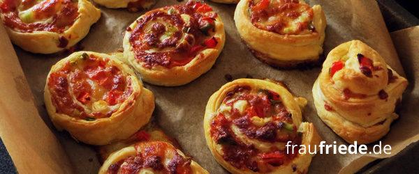 Pizzaschnecken selber machen